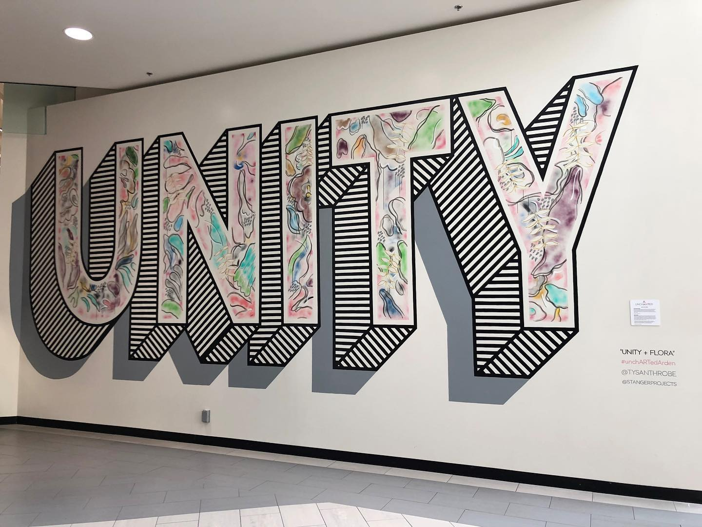 Image of Unity + Flora - Floral mural