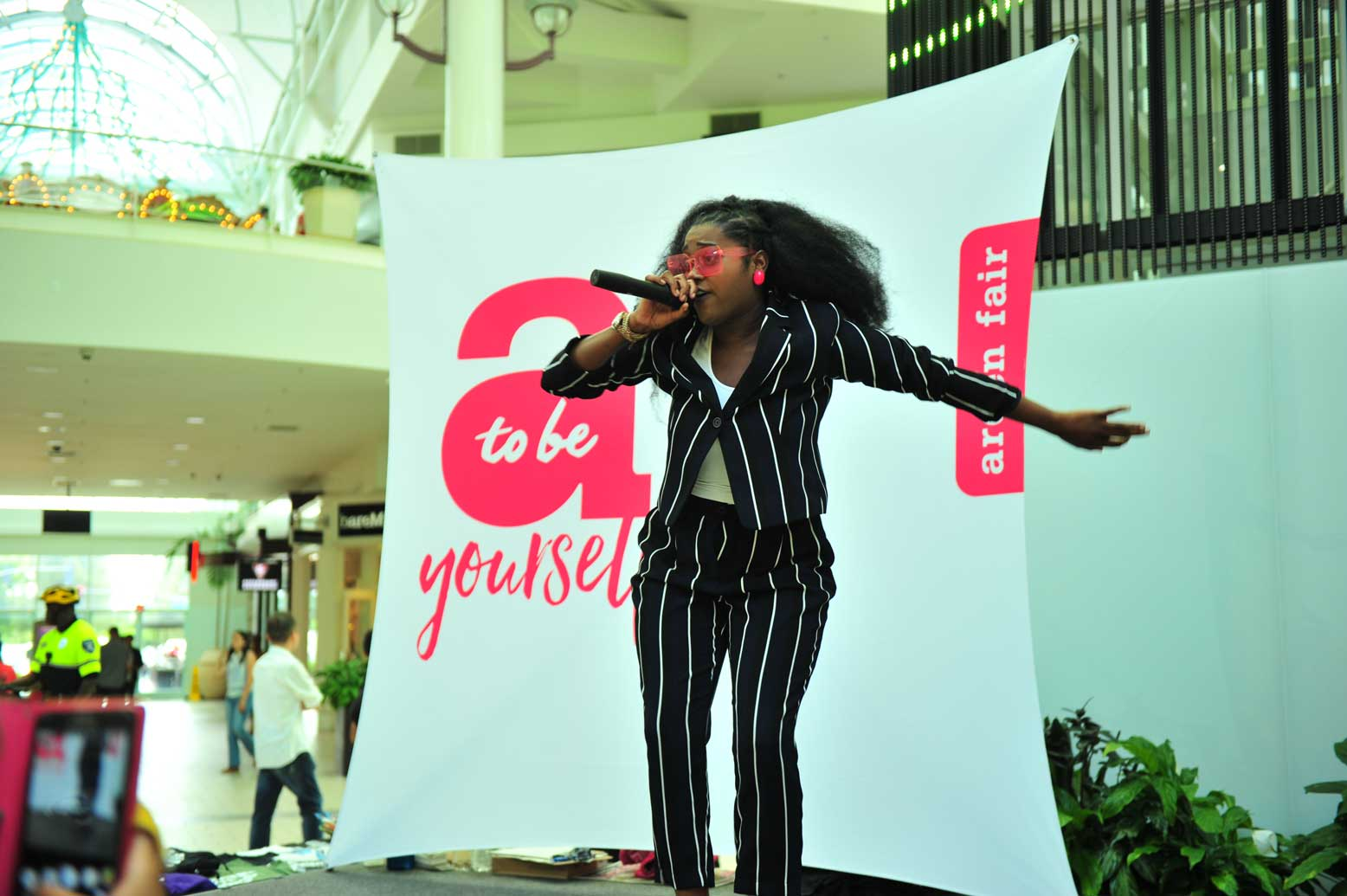 Image of SAYS Spoken Word Event - Woman performing