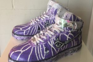 Image of Lisa Elias Custom Sacramento Kings Air Force One Shoes